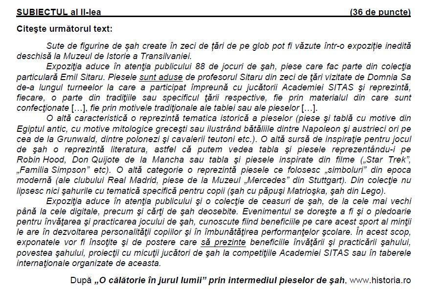 emil sitaru simulare evaluare națională română