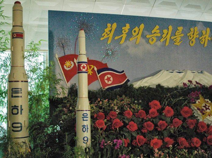 Nord-coreenii își expun bombele inclusiv la expozițiile de flori FOTO: Steve Herman/voanews.com/via Wikimedia