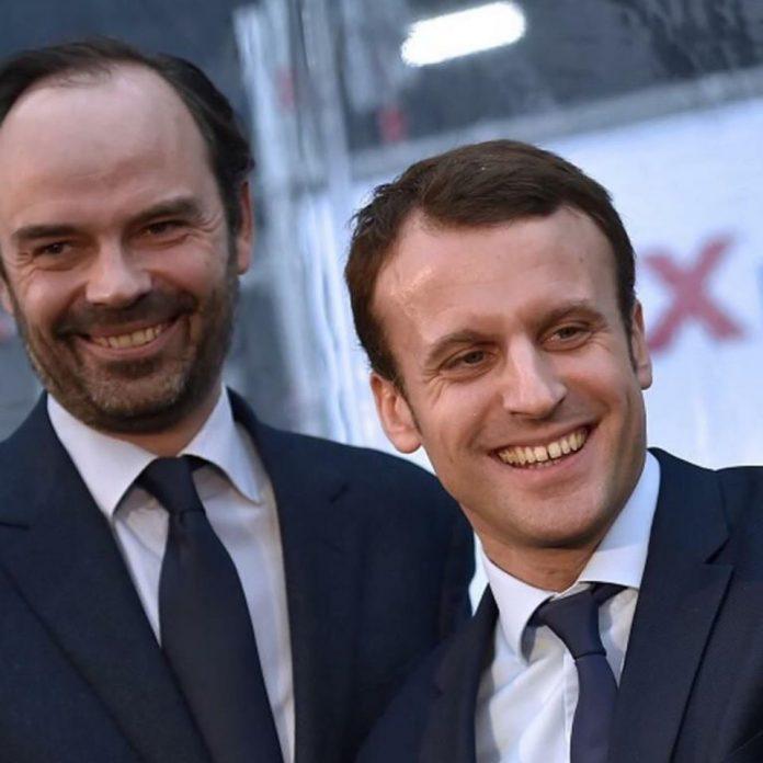 Edouard Philippe (stânga) a fost numit premier al Franței de către președintele Emmanuel Macron (Facebook)