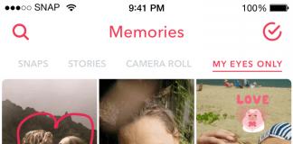 """Puteți salva cele mai interesante mesaje în secțiunea Memories. Există și o secțiune """"My Eyes Only"""", pentru amintiri pe care nu vreți să le împărtășiți cu nimeni. Foto: Snapchat"""