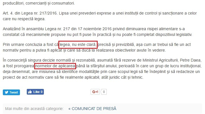 greșeli document ministerul agriculturii