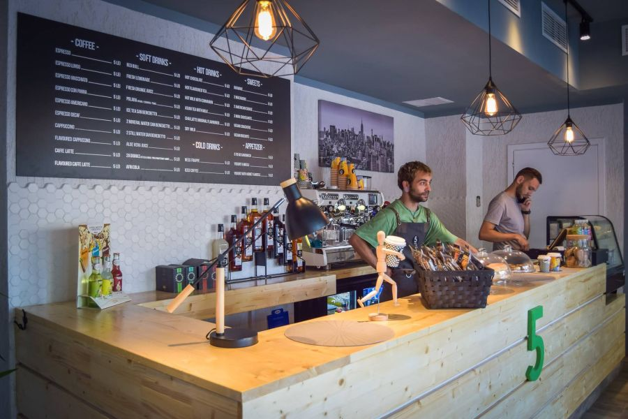 O cafenea poate fi trecută pe lista de idei de afaceri 2017 FOTO: 5 to go/Facebook