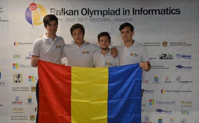 Olimpicii români au câștigat patru medalii la Balcaniada de Informatică de la Chișinău (Foto. Ministerul Educației)