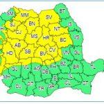 15 județe sunt sub cod galben de ploi SURSA: Meteoromania.ro