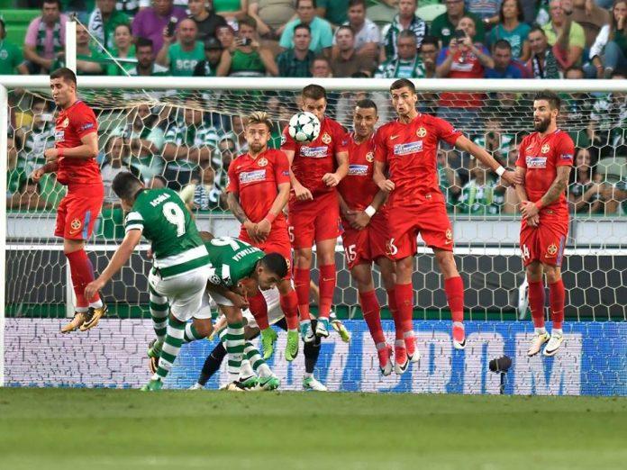 FCSB a reușit să plece de la Lisabona fără gol primit. Foto: Razvan Pasarica / sportpictures.eu