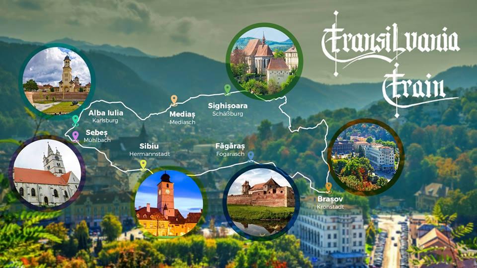Acesta este traseul Transilvania Train. Foto: CFR Călători