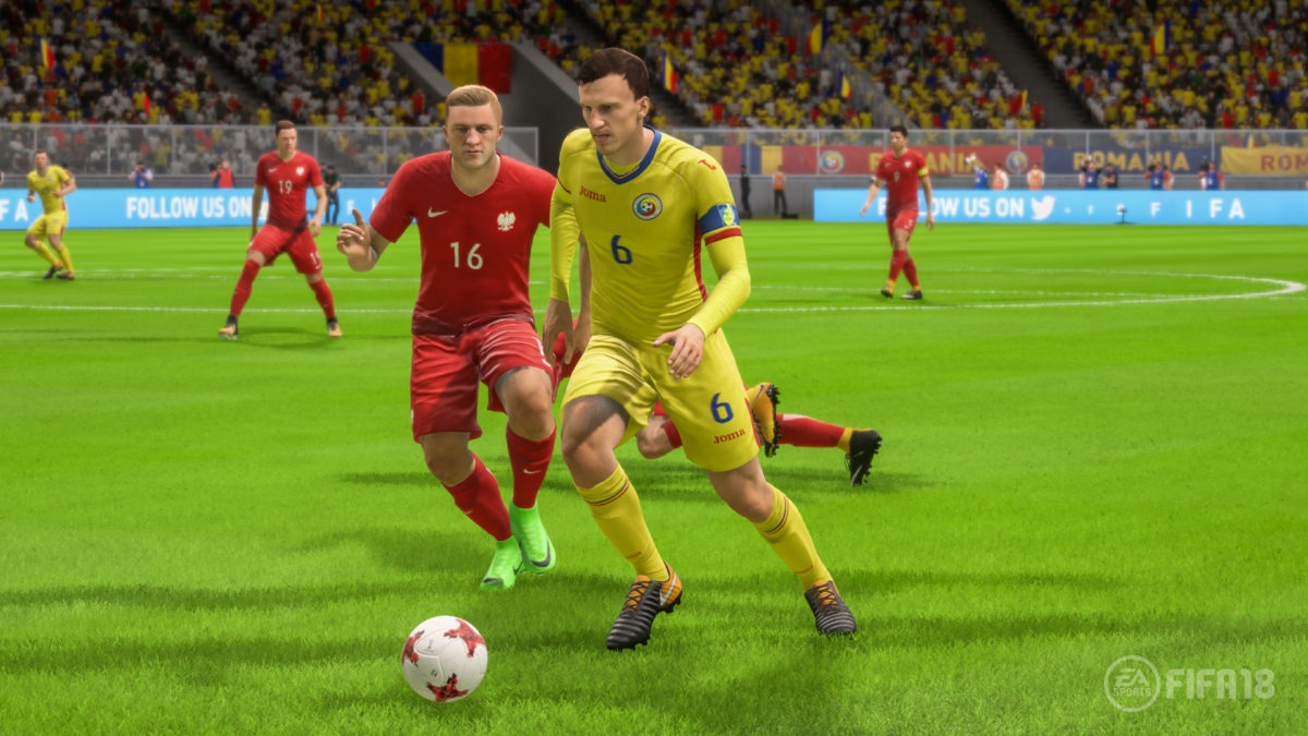 Naționala României este inclusă oficial în FIFA 18. Foto: Electronic Arts