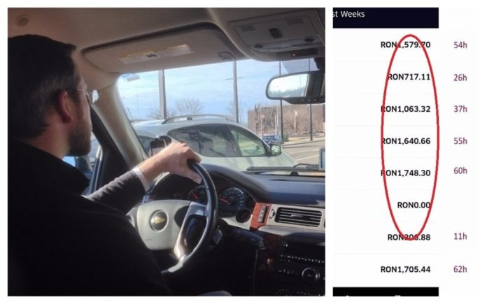 șofer uber bani