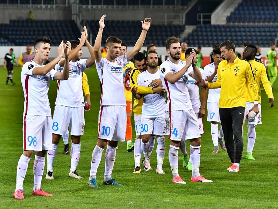 FCSB are maximum de puncte după două meciuri în Liga Europa. Foto: FCSB