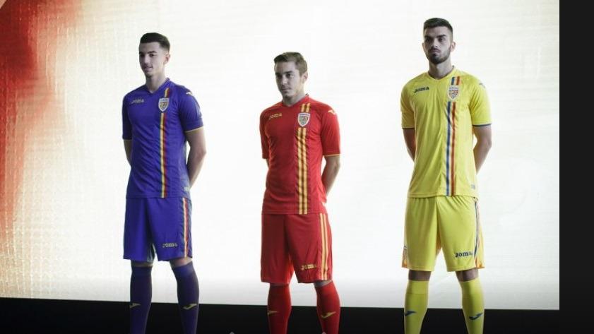 Așa arată noile echipamente ale naționalei de fotbal a României. Foto: FRF