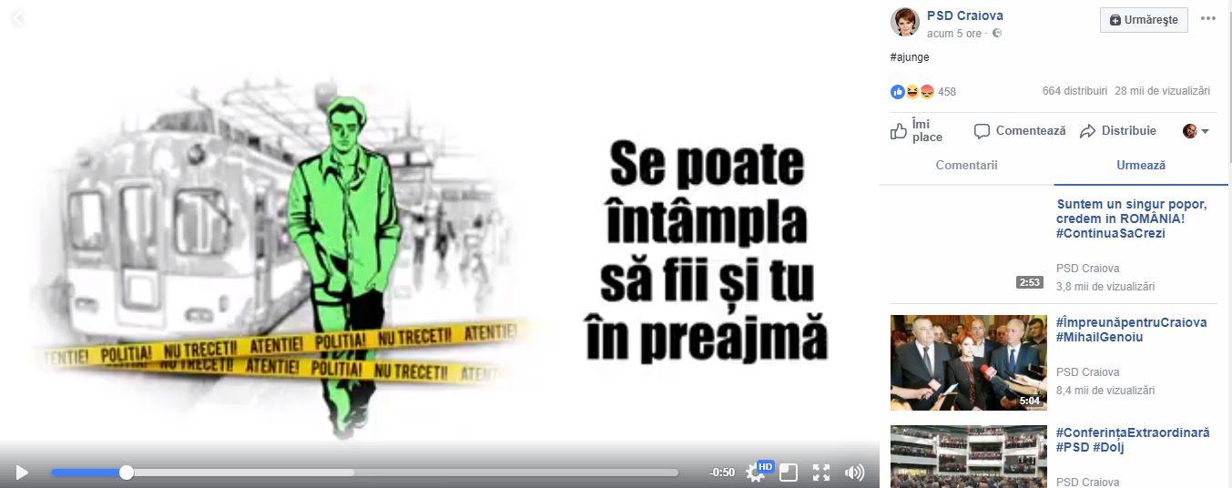 FOTO: Captură clip PSD Craiova