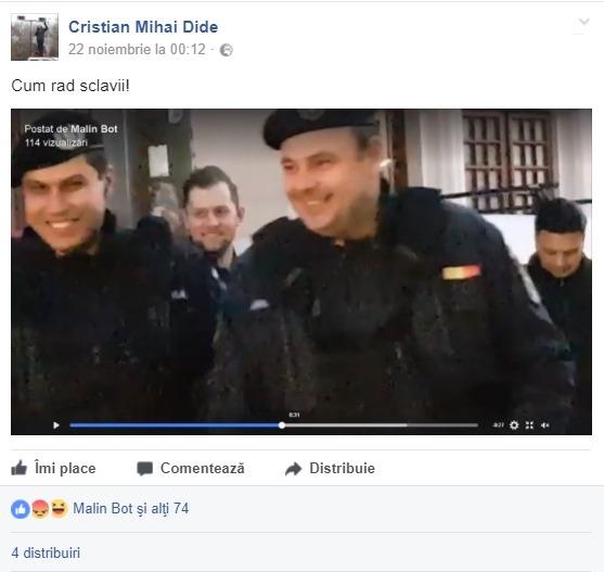 amendă 900 de lei jignire facebook jandarmerie
