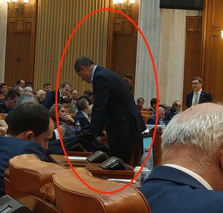 Secretarul general al PSD, Marian Neacșu, în Parlament FOTO: Cătălin Drulă/Facebook