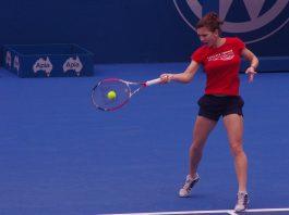 Simona Halep a evoluat excelent în fața canadiencei Eugenie Bouchard la Australian Open 2018. Foto: NAPARAZZI / Flickr