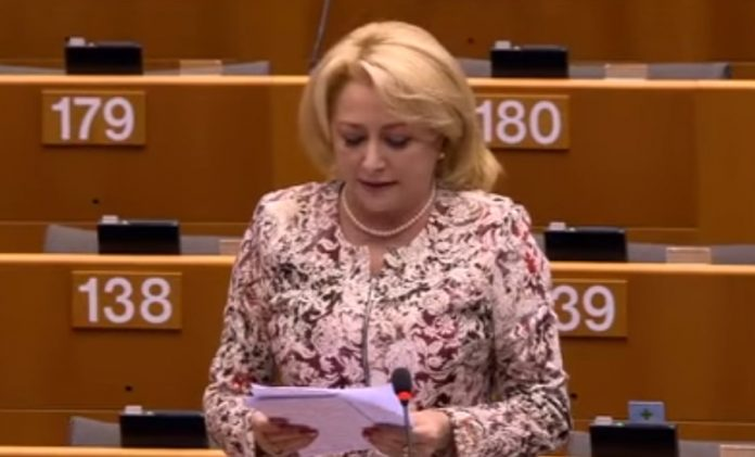 Guvernul Dăncilă va fi anunțat vineri FOTO: Captură YouTube viorica dăncilă în parlamentul european