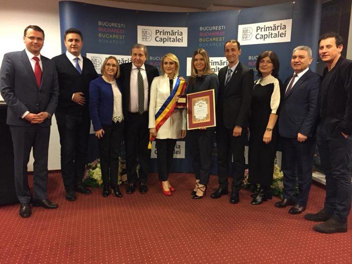 Simona Halep, cetățean de onoare al Bucureștiului. Foto: Facebook Simona Halep