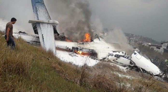 avion prăbușit nepal
