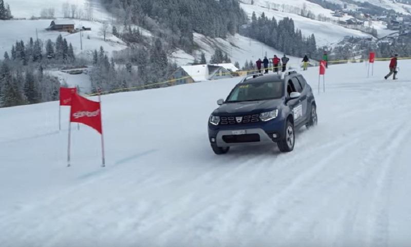 Dacia Duster a făcut legea pe pârtia elvețiană. Foto: carplanet.ch