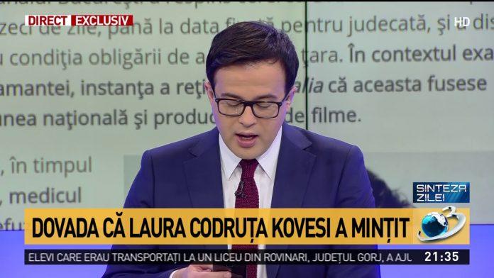 Mihai Gâdea va trebui să îi ceară scuze Laurei Codruța Kovesi. Foto: Antena 3