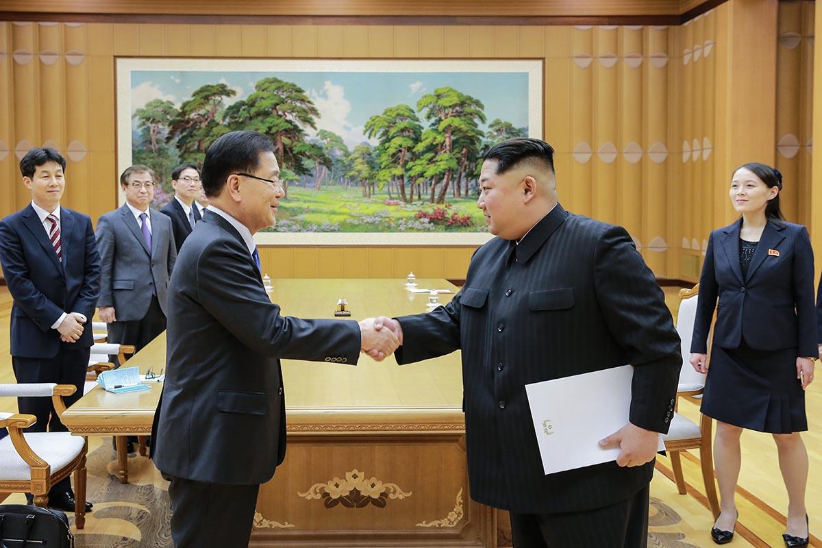 Pe 5 martie, Kim Jon Un a avut o întâlnire cu oficiali ai Coreei de Sud FOTO: Wikimedia Commons