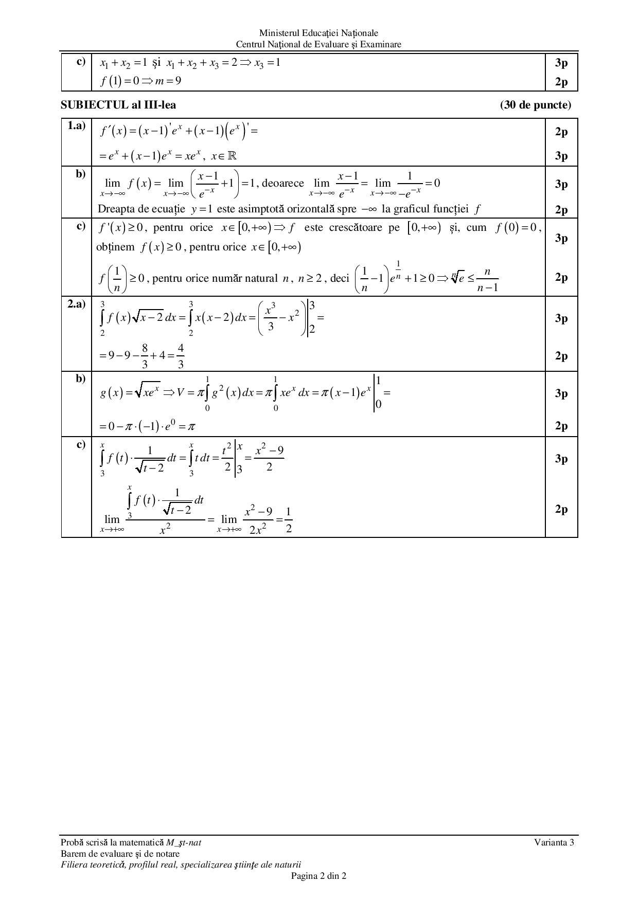 subiecte matematică bac 2018