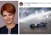lia olguța vasilescu tunuri cu apă pe protestatari
