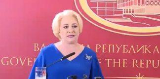 Viorica Dăncilă a dat-o-n bară și în Macedonia. Foto: Guvernul României / Facebook