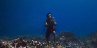 FOTO: Captură din documentarul The Story of Hunters Bajau Tribe