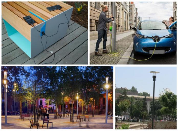 Imagine din proiectul străzii smart din Cluj-Napoca
