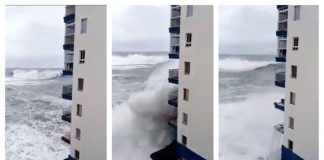 furtună în tenerife valuri