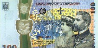 Bancnota aniversară de 100 de lei emisă de BNR
