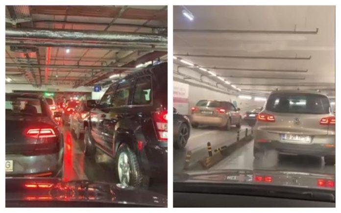 blocați parcare mall bucurești promenada