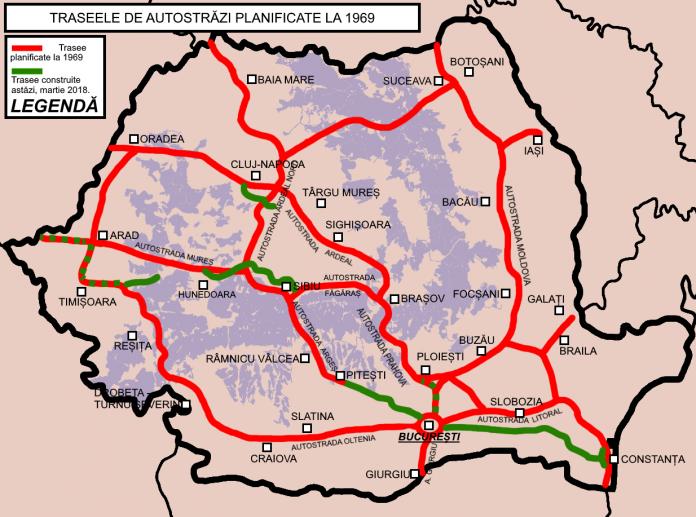 autostrăzi propuse românia