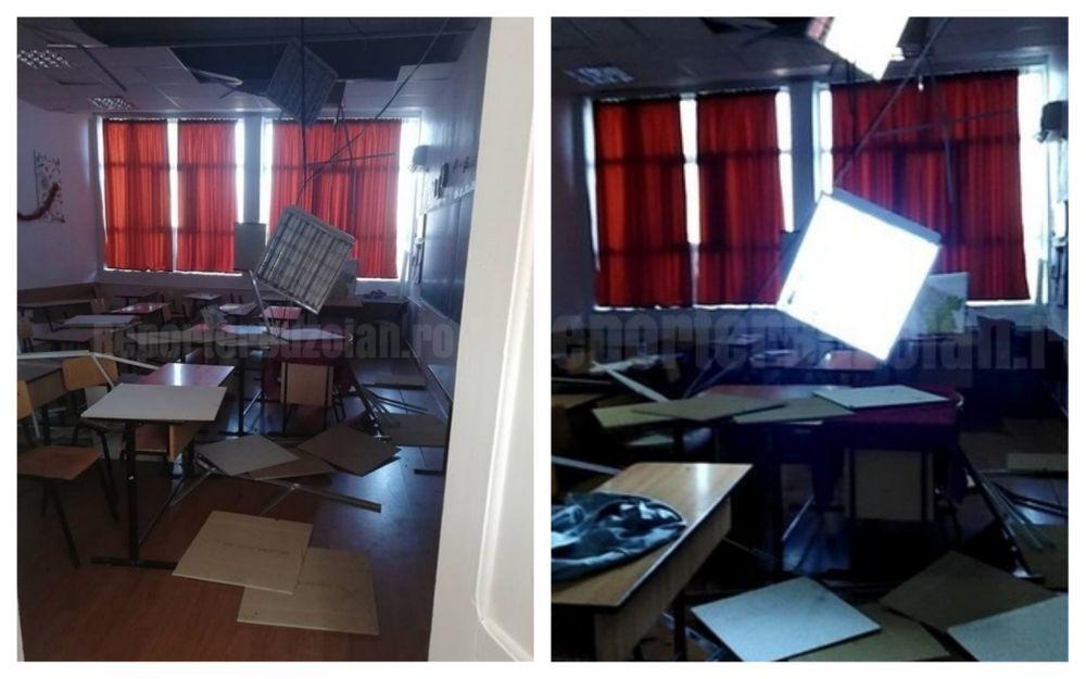 tavan prăbușit elevi buzău