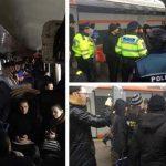 tren aglomerat blocat pe șine gara de nord