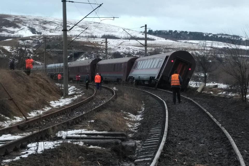tren deraiat hunedoara