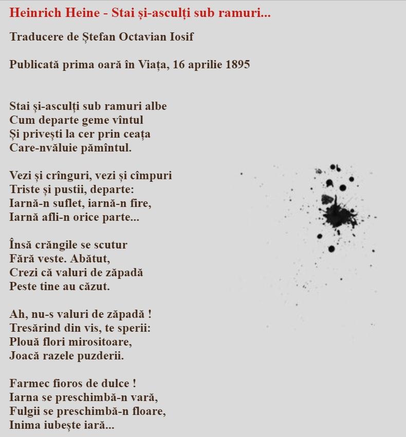poezie atribuită greșit șt o iosif simulare limba română