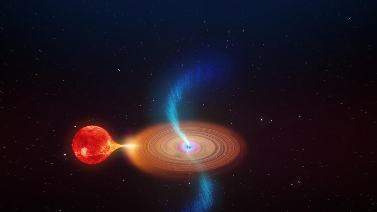 titirez cosmic gaură neagră jeturi de materie