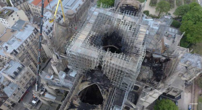 imagini dronă catedrala notre dame