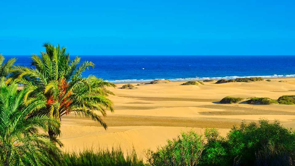 cele mai frumoase plaje din Spania Maspalomas