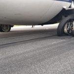 cauciuc explodat aeronavă ATR TAROM