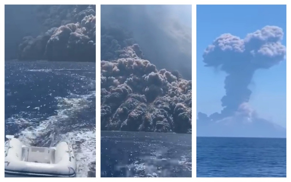 erupție vulcanul stromboli