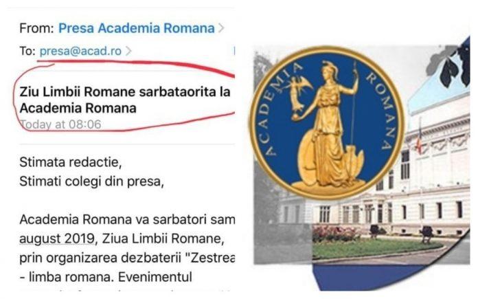 ziua limbii române academia română mesaj agramat