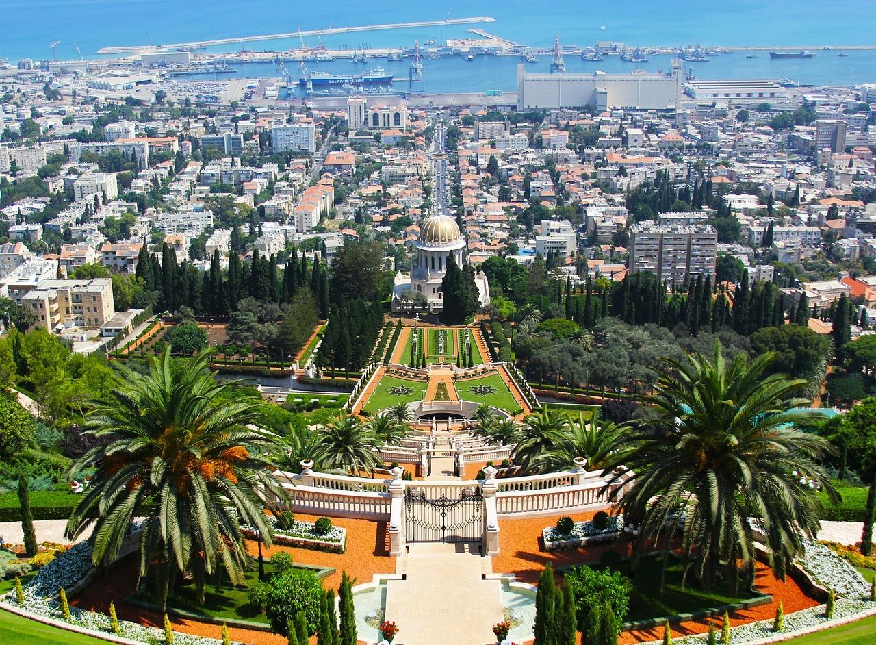 Cele mai frumoase locuri din Israel, Grădinile Bahai. Foto: Pixabay