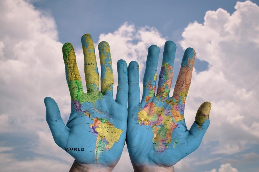 hartă țări continente lumea glob