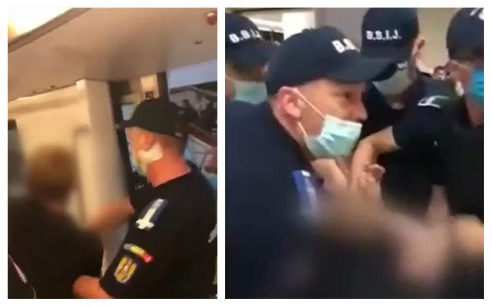 metrou mască jandarmi