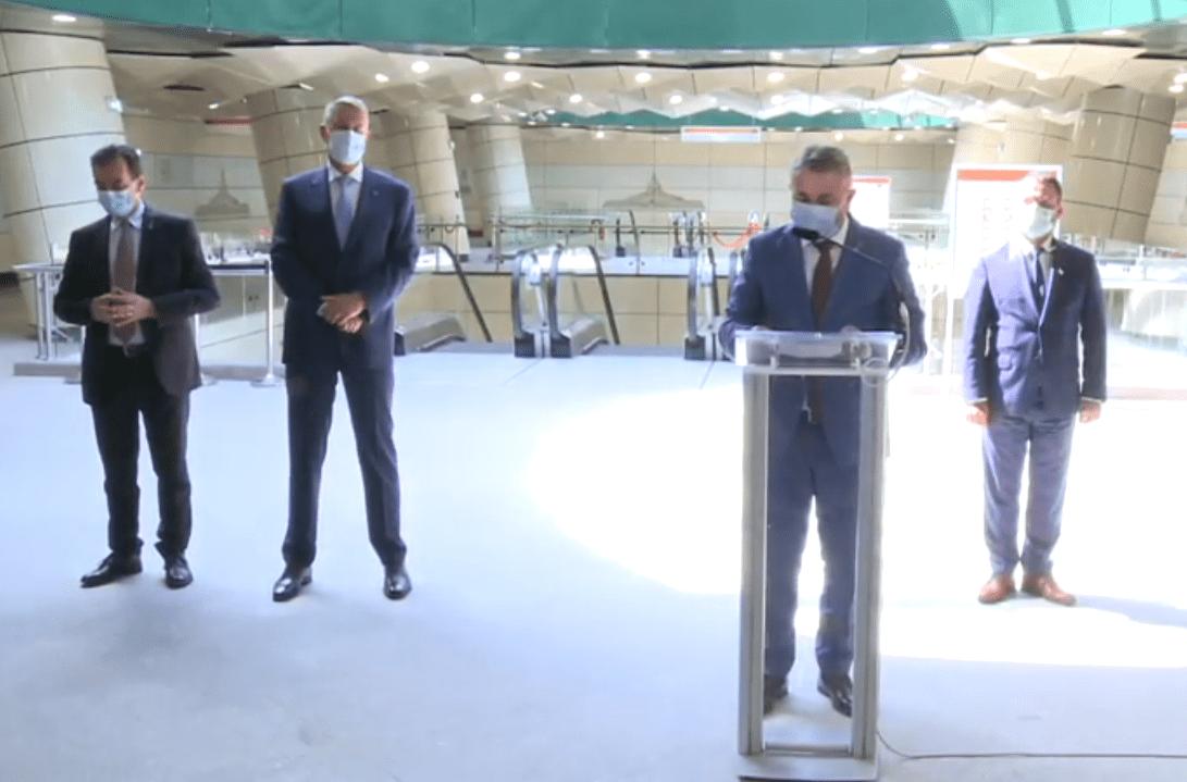 FOTO: Imagine de la inaugurarea liniei de metrou din Drumul Taberei, la care au participat Klaus Iohannis, Ludovic Orban și ministrul Transporturilor