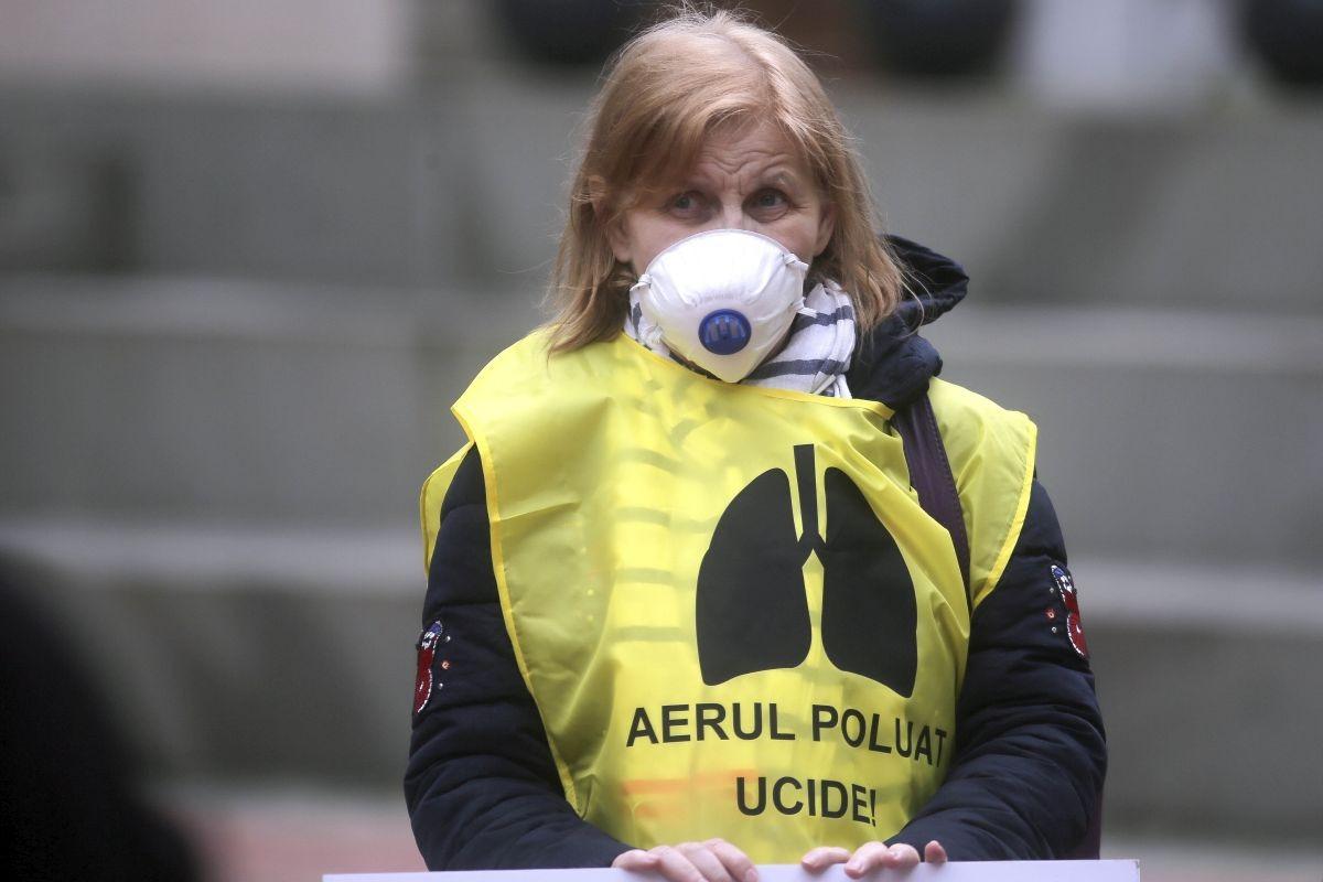 poluare aer marș protest timișoara