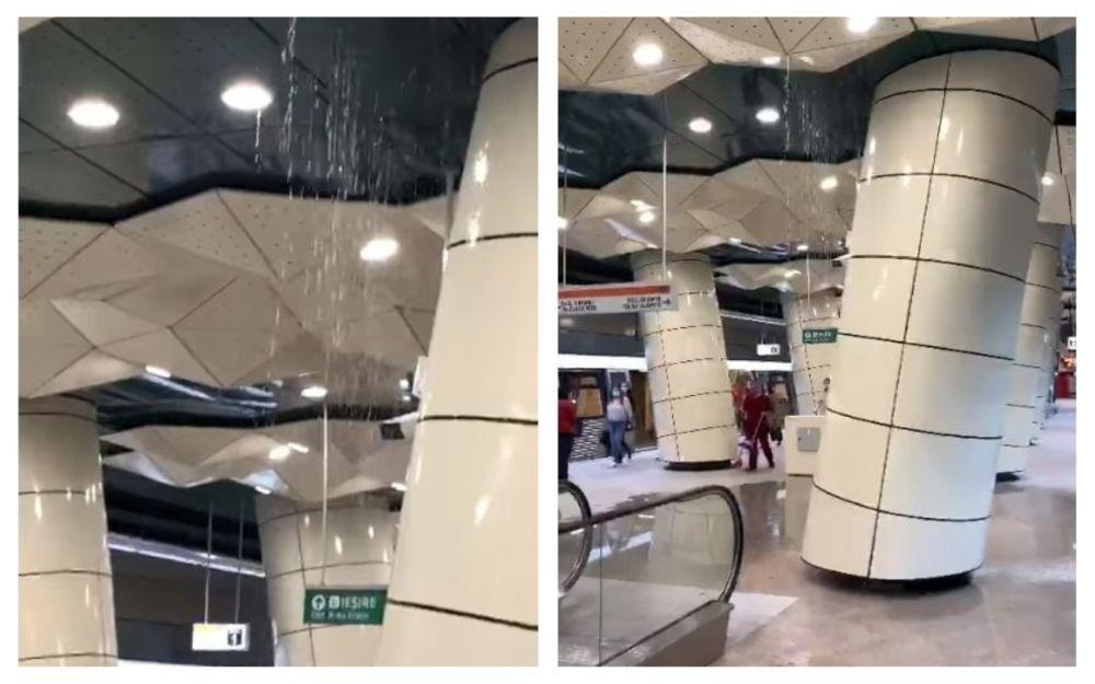 apă tavan metrou M5 eroilor