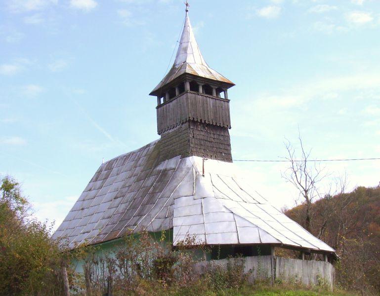 Așa arăta biserica de lemn din Gialacuta, înainte de incendiu FOTO: Florin Dobrei/Wikimedia Commons